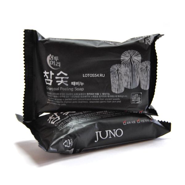 Juno Charcoal Peeling Soap., 150гр.