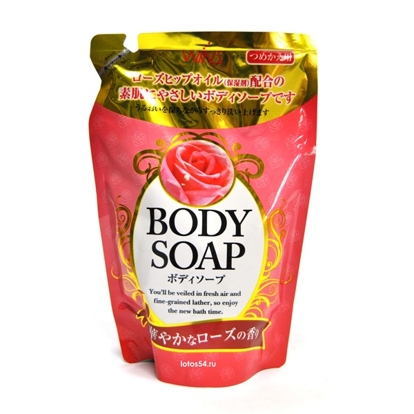 Nihon Detergent Wins Body Soap Rose, 400мл