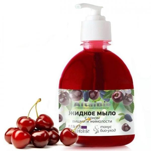 AltaiBio Жидкое мыло с соком вишни и жимолости,300 мл.