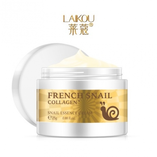 Laikou French Snail Collagen Essence Cream, 25гр.