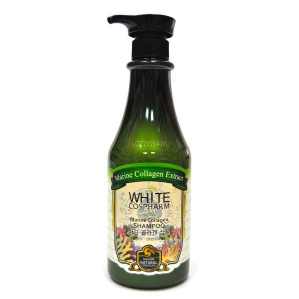 White Cospharm Organia Marine Collagen Shampoo, 750 мл.