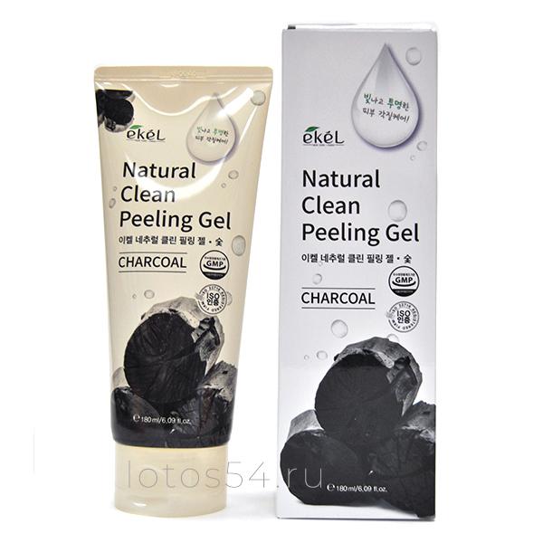 Ekel Charcoal Natural Clean Peeling Gel, 180мл