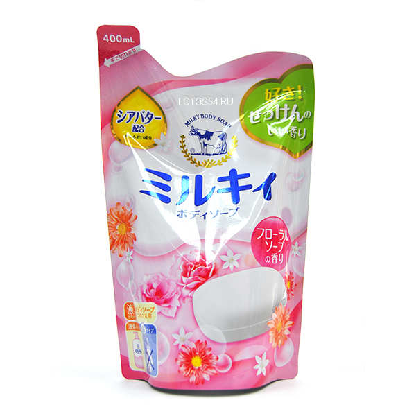 COW Milky Body Soap Flowers, 400мл
