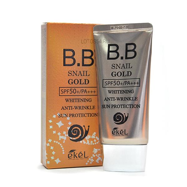Ekel Snail Gold BB Cream SPF50+/PA+++, 50мл
