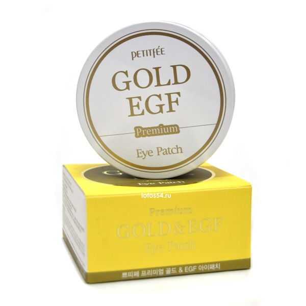 Petitfee Premium Gold & EGF Eye Patch, 1упак./60шт