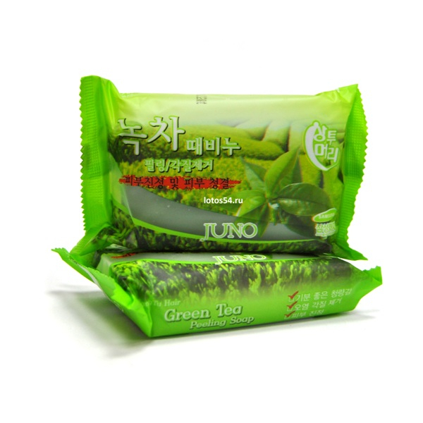 Juno Green Tea Peeling Soap., 150гр.