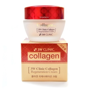 3W Clinic Collagen Regeneration Cream, 60гр.