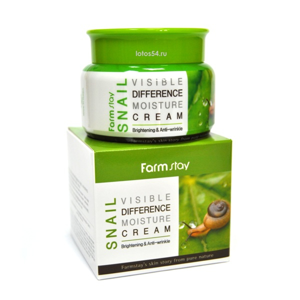 Farmstay Snail Visible Differerce Moisture Cream, 100мл