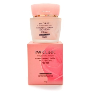 3W CLINIC Flower Effect Extra Moisture Cream, 50гр.