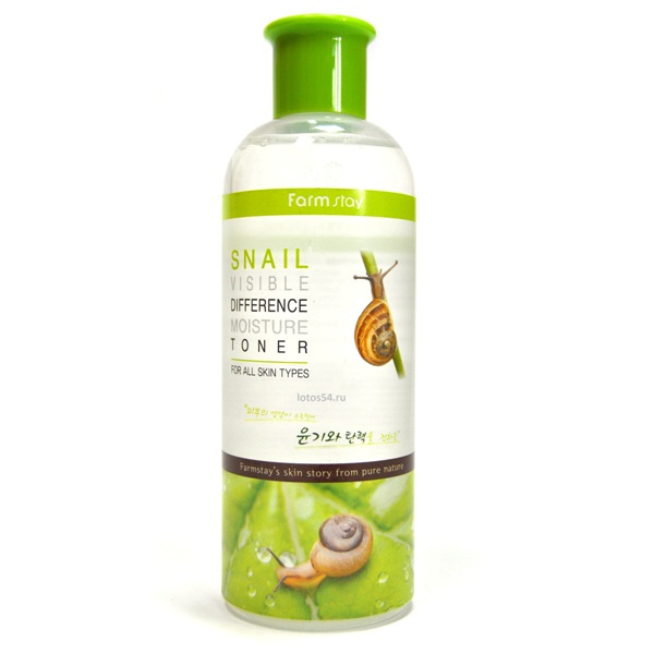 FarmStay Visible Difference Snail Moisture Toner, 350мл