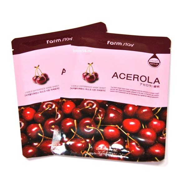 FarmStay Visible Difference Mask Sheet Acerola, 1шт (23мл)