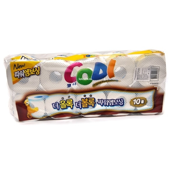 Codi Bathroom Tissue, 1 упак. (10 рул.)