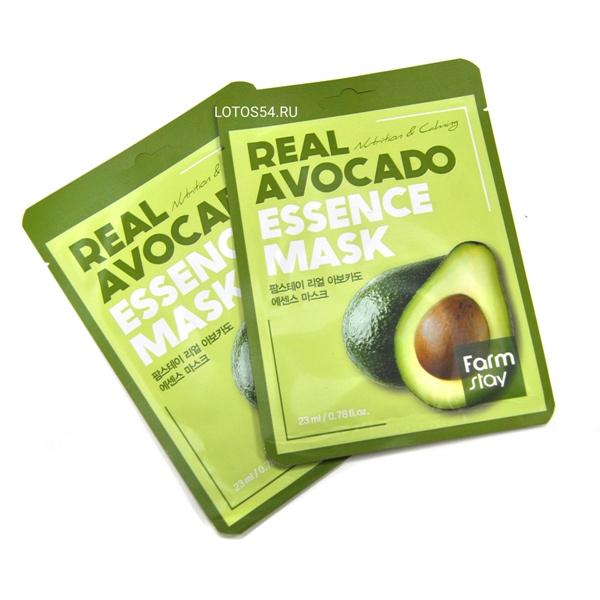 FarmStay Real Avocado Essence Mask, 1шт/23мл