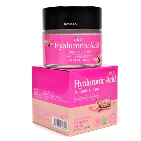 EKEL Hyaluronic Acid Ampoule Cream, 70мл