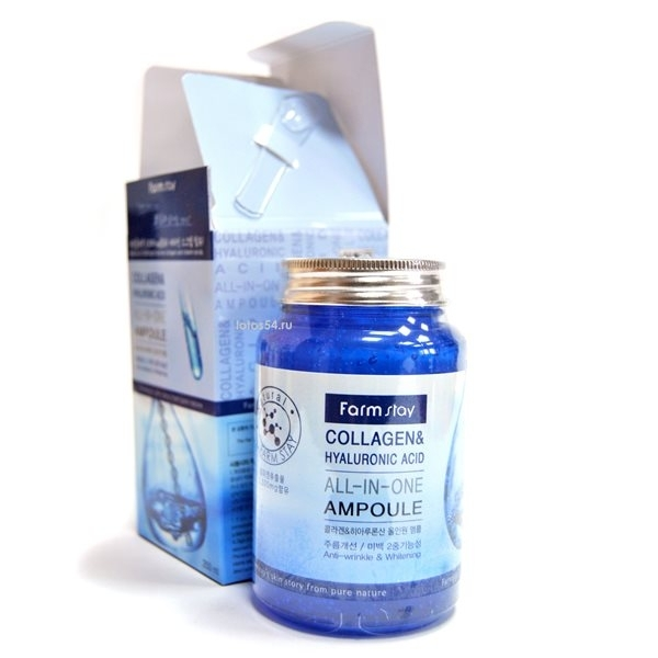 FarmStay Collagen & Hyaluronic Acid All-In-One Ampoule, 250мл