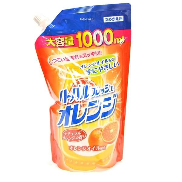 Mitusei Orange Dishwashing detergent, м/упак.с крышкой, 1000 мл.