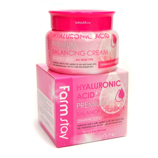 FarmStay Hyaluronic Acid Premium Balancing Cream, 100гр.