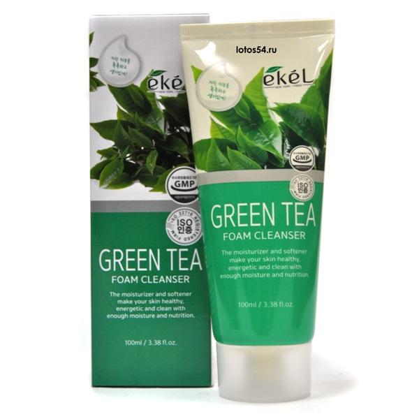 Ekel Green Tea foam cleanser, 100мл.