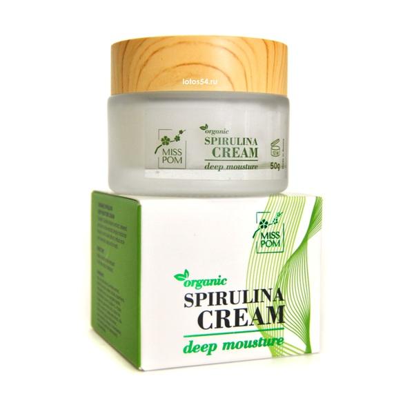 MISS POM Organic Spirulina Deep Moisture Cream, 50гр.