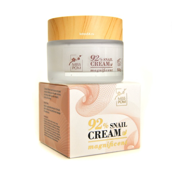 MISS POM 92% Magnificent Snail Cream, 50гр.