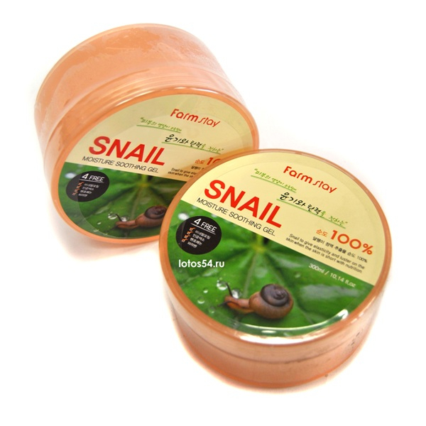 FarmStay Snail Moisture Shooting gel 100%, 300мл