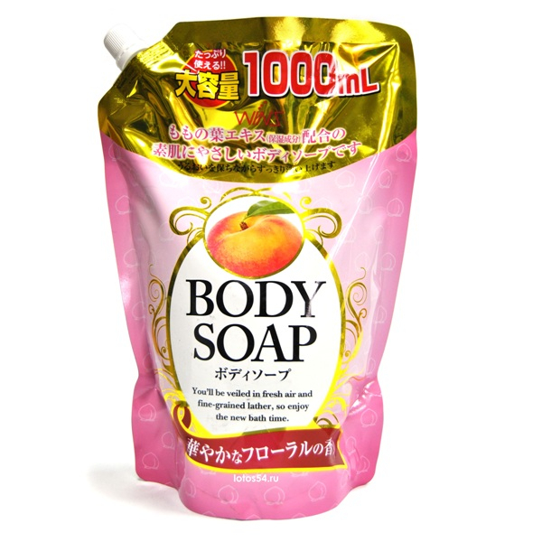Nihon Detergent Wins Body Soap Peach, 1000мл