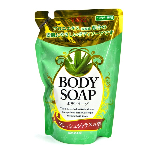 Nihon Detergent Wins Body Soap Aloe, 400мл