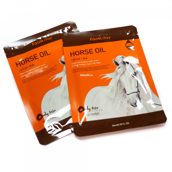 FarmStay Visible Difference Mask Sheet Horse Oil, 1шт (23мл)