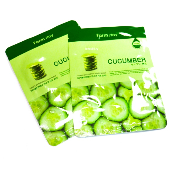 FarmStay Visible Difference Mask Cucumber, 1шт (23мл)