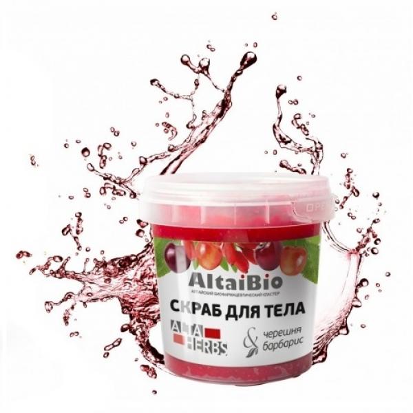 "AltaiBio, Скраб для тела ""Черешня-барбарис"", 230 гр."