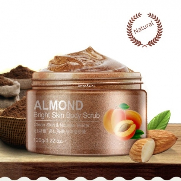 BioAqua Almond Bright Skin Body Scrub, 120гр.