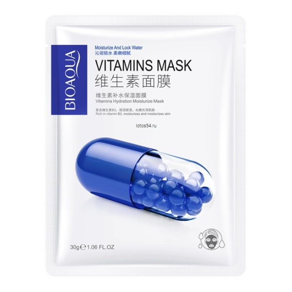BioAqua Vitamin B3 Mask, 1шт/30гр.