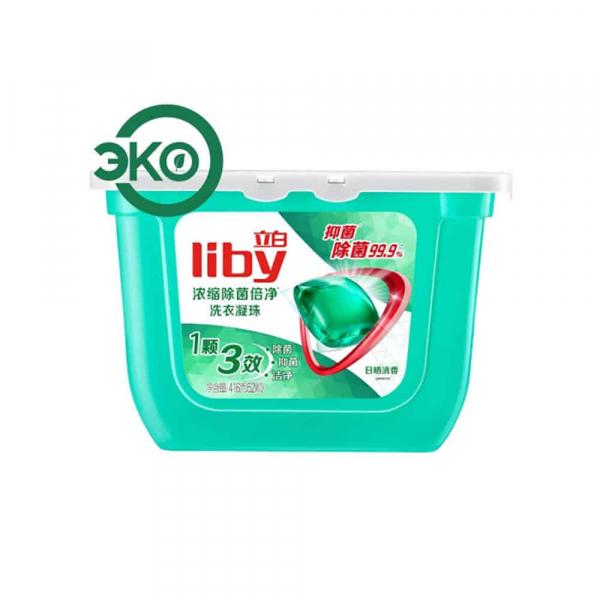 Liby Капсулы для стирки с Антибактериальным эффектом, 416г/52 шт.