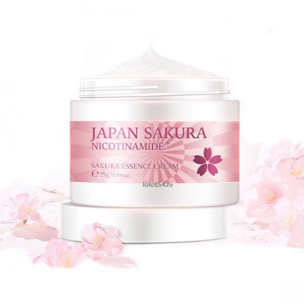 Laikou Japan Sakura Niacinamide Essence Cream, 25гр.