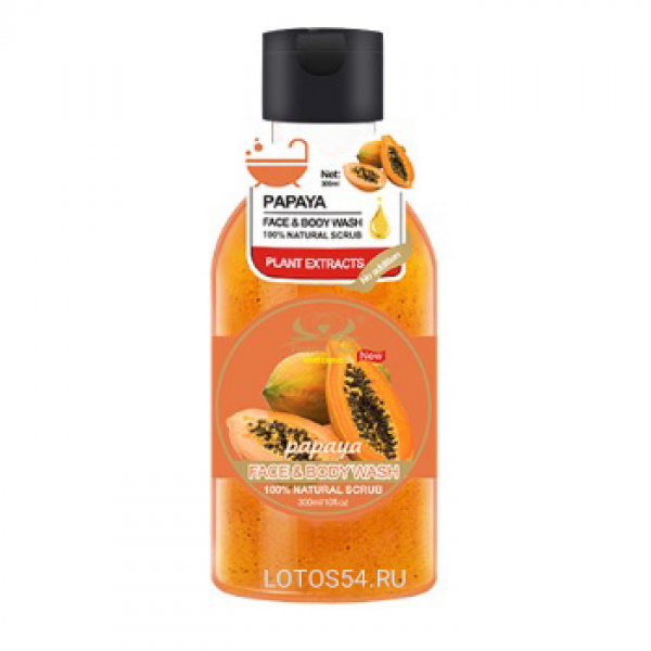 Pretty Cowry face and body scrub Papaya, 300мл