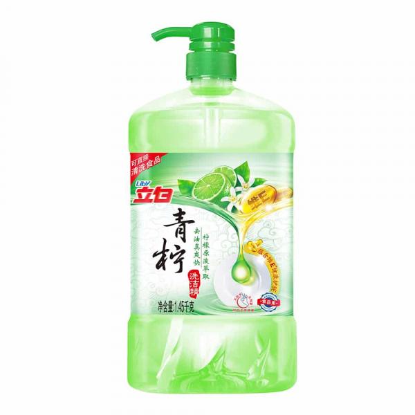 """Liby """"Зеленый лимон"""" Жидкость для мытья посуды, 1,45кг"""